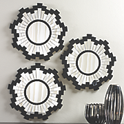 set of 3 sunburst mirrors