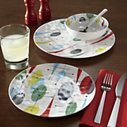 12-Piece Retro Melamine Dinnerware Set