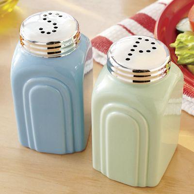 Retro Salt & Pepper Shakers