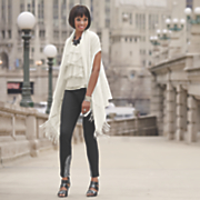 Zapari Wrap, Ruffle Top and Payton Lace Trim Leggings