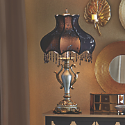 Beaded Victorian Table Lamp