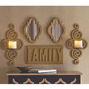 set of 5 family wall decor
