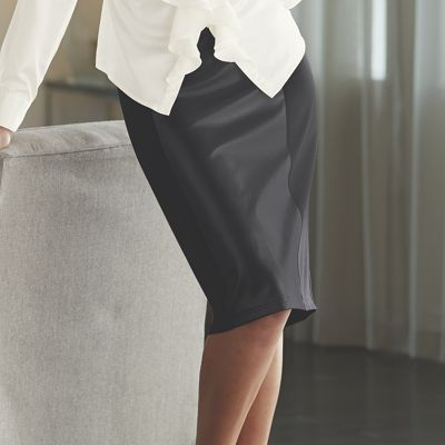 Ponte Faux Leather Skirt