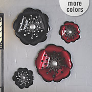 set of 2 metal blossom wall art