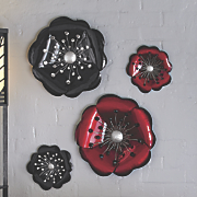set of 2 metal blossom wall art