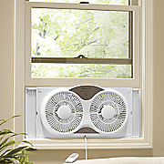 9  dual window fan with remote