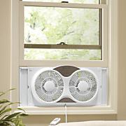 9  dual window fan with remote
