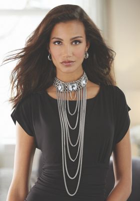 Crystal Collar/Chain Necklace