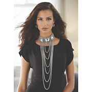 crystal collar chain necklace