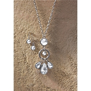 Crystal Pendant Necklace/Earring Set