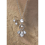 crystal pendant necklace earring set