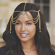 Crystal-Accented Head Jewelry