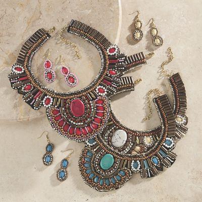 Southwest Beaded Necklace/Earring Set