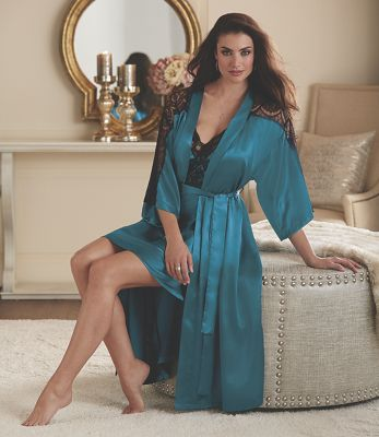 Celia Lace Bodice Robe and Gown Set