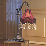 burgundy table lamp 88