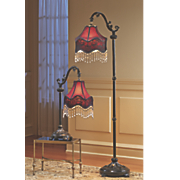 Burgundy Floor Lamp