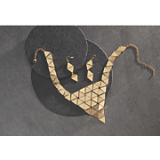 triangle necklace earring set