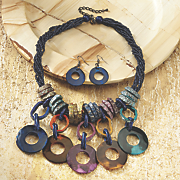 Multicolored Necklace/Earring Set