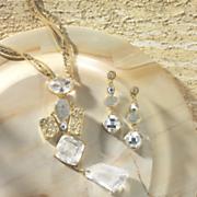 Crystal/Nugget Necklace