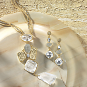 crystal nugget necklace