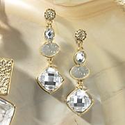 Crystal/Nugget Earring