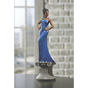 Diva Blue Figurine