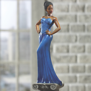 Diva Blue Figurine