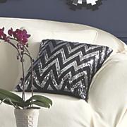 chevron sequined pillow