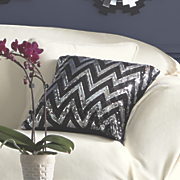 chevron sequined pillow
