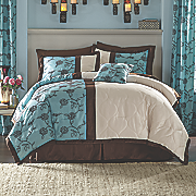 Dahlia Comforter Set, Pillow and Window Treatments