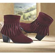 short fringe boot by midnight velvet
