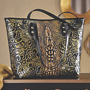 rose alligator embossed bag