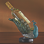 peacock wine bottle holder