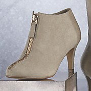 Zip Front Bootie by Midnight Velvet
