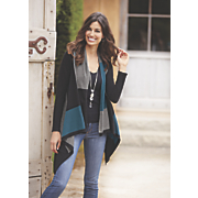 colorblock fly away cardigan