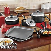 13-Piece Circulon Hard-Anodized Aluminum Cookware