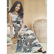 Paisley Maxi Print Dress