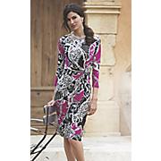 animal chain print dress