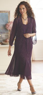 Shafira Beaded Jacket Dress