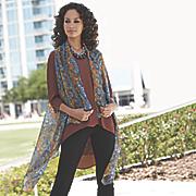 printed scarf vest