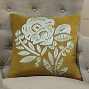 embroidered velvet jacobean pillow
