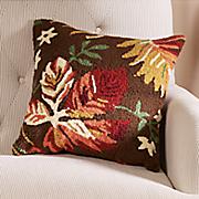 adirondack hand hooked pillow