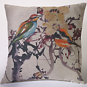 Birds Among The Blossoms Pillow