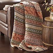 multistripe quilted throw