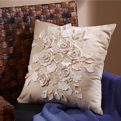 Rosette Decorative Pillow : Rosette Throw Pillow from Midnight Velvet 725157