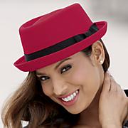 canvas porkpie hat