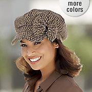 tweed bow cadet cap