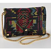 allie tribal print pouch bag