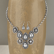 crystal necklace and earring set 93