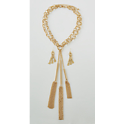 tassel necklace and earring set